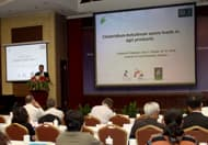 Pradeep Malakar speaking at the 5th International Symposium on Agricultural Food Safety in Shanghai