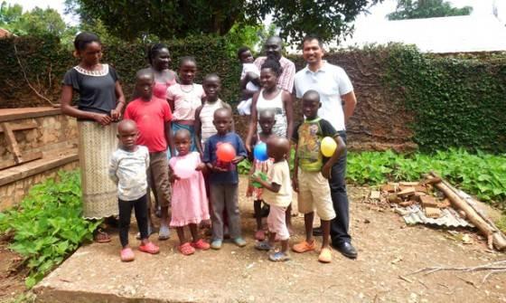 Dr Pradeep Malakar visiting the orphanage in June 2015