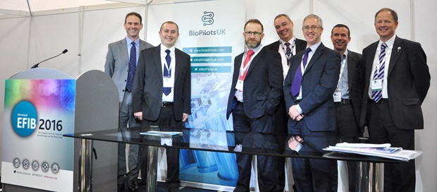 The BioPilotsUK partners at the launch at EFIB2016