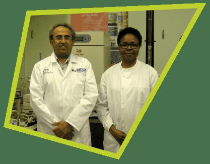 Prof. Arjan Narbad and Dr Ngozi Elumogo