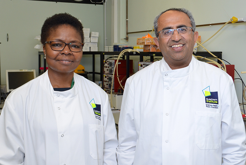 Dr Ngozi Elumogo and Professor Arjan Narbad