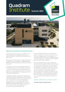Front cover of quadram Institute newsletter